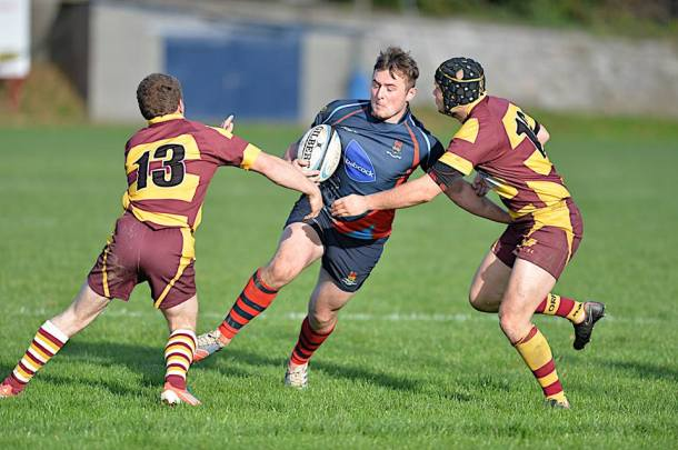 Devonport Services in action against Okehampton at the Rectoryy (picture by Mark Andrews)