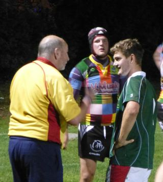 DEBUT: Teenager Jack Maunder gets some advice from the referee on his first appearance for Albion