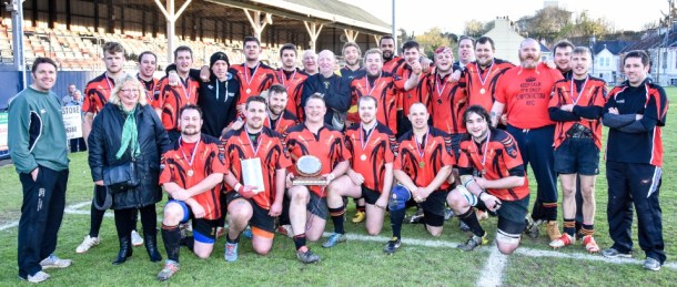 Plympton Victoria with the runners-up trophy