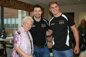 Marc Koteczky and Will Slater visiting a residential home
