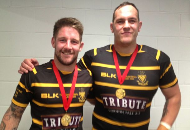Matt Shepherd and Herbie Stupple with their medals after Sunday's final