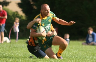 Plymstock Albion Oaks on their way for a try against Argaum