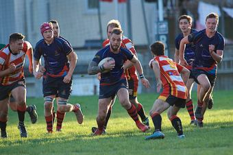 Devonport Services' Ben McGowan in action against St Austell at the Rectory (picture by Mark Andrews)