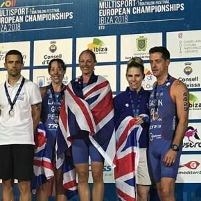 Tavistock athletes win medals at ETU Aquathlon European Championships in Ibiza