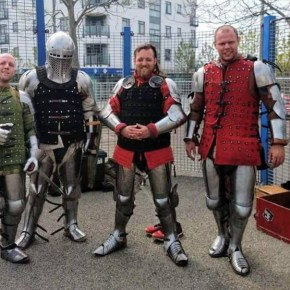 Medieval combat fighting is growing in Plymouth