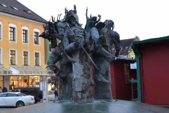 Kašna na náměstí Marktplatz