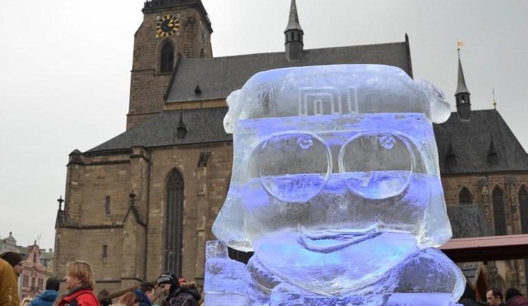 ledové sochy v plzni