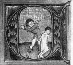 Stětí mečem bylo ve středověku běžným způsobem trestu.