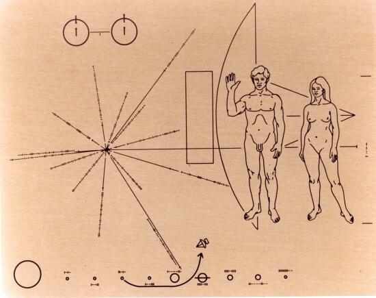 destička sondy Pioneer 10