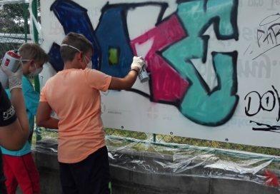 Graffiti ano, ale legálně. V Klubech Diakonie Západ mají jasno