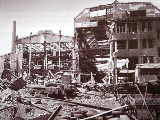 Škodovka po bombardování