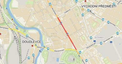 Část Slovanské ulice se od 16.září na několik týdnů kompletně uzavře