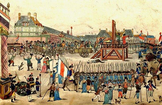 Robespierre pod gilotinou