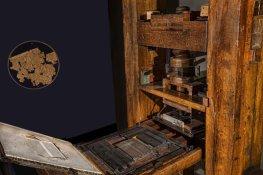 Středověký tiskařský stroj
