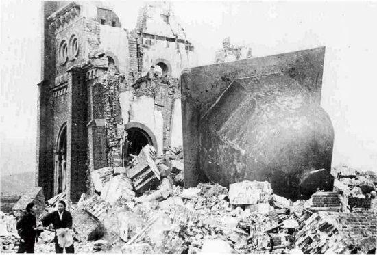 Hirošima po výbuchu