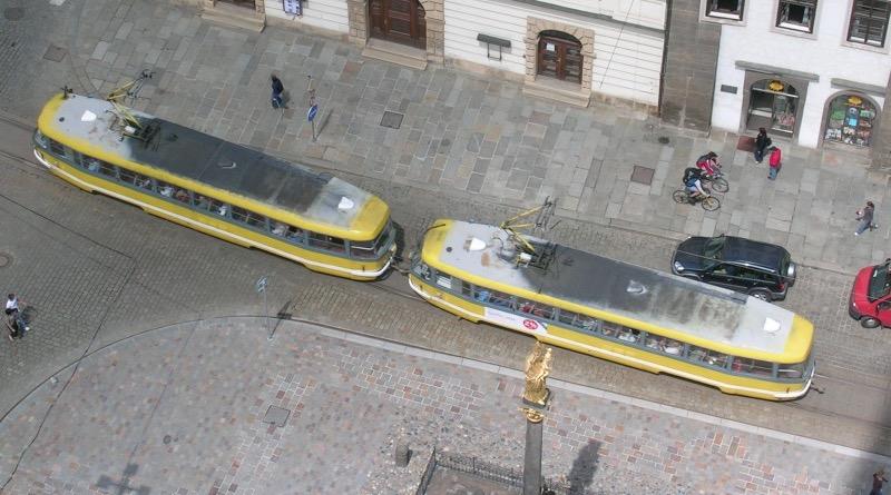 tramvaj z veže