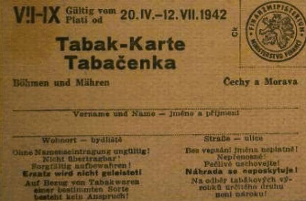 tabačenka rok 1942