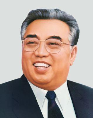 Propagandistický portrét Kim Ir-sena