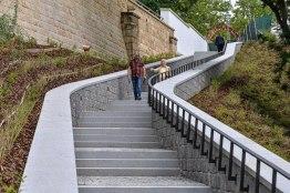 Nové schodiště v parku U Ježíška