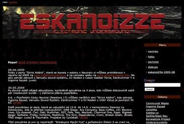 Eskanoizze.com v roce 2009. Foto: Archiv Plzenoviny.cz