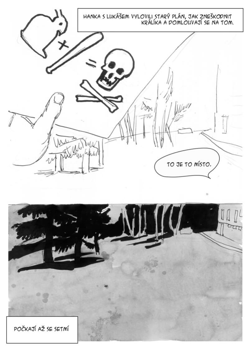 komiks králíci na lochotíně