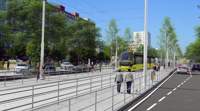 Vizualizace plánované tratě