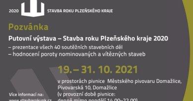 Putovní výstava Stavba roku Plzeňského kraje 2020 se přesouvá do Domažlic