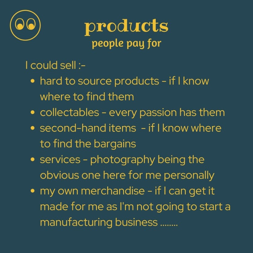 the products people pay for