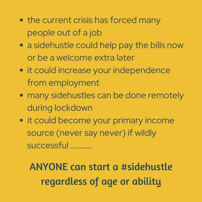 anyone can start a sidehustle