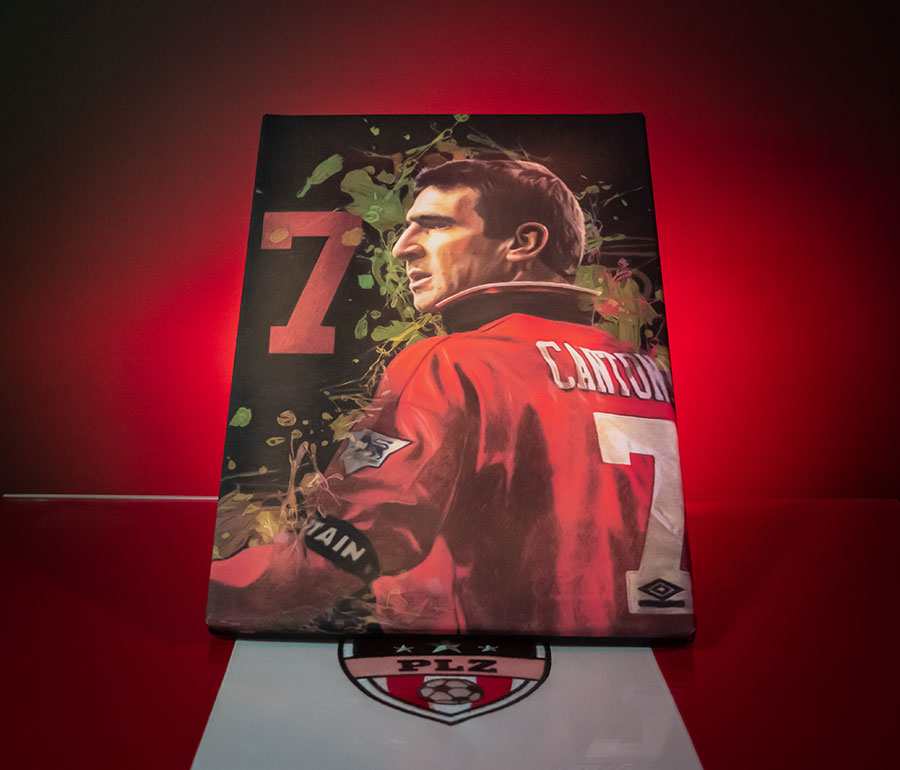 Eric cantona brought a regal swagger to manchester united in the 1990s,. Manchester United Legend Eric Cantona Canvas