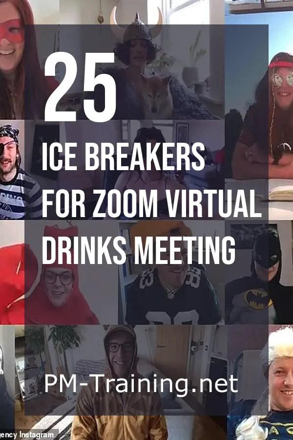 Ice Breakers for Zoom Virtual Drinks Meeting