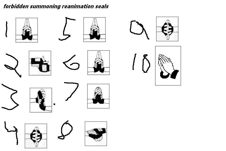 reanimation jutsu release hand