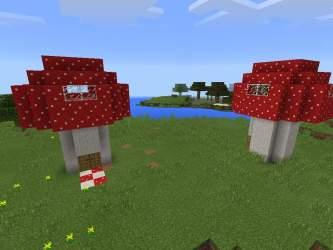 Cute little mushroom houses Minecraft Amino