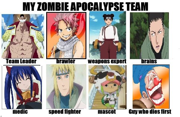 Examples of animes i watched that fit this description: Anime Zombie Apocalypse Dream Team | Anime Amino