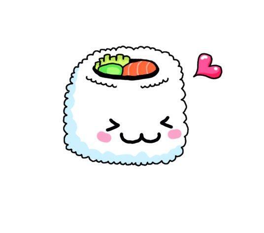 Risultati immagini per kawaii sushi wallpaper
