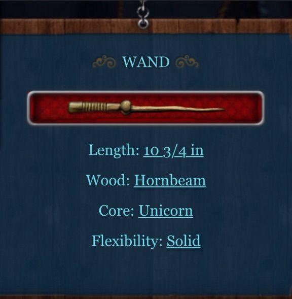 Hornbeam Wood Pottermore