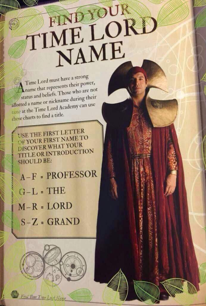 What Is A Time Lord : Name?, Doctor, Amino