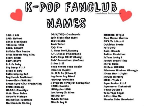 Image result for fandoms in kpop