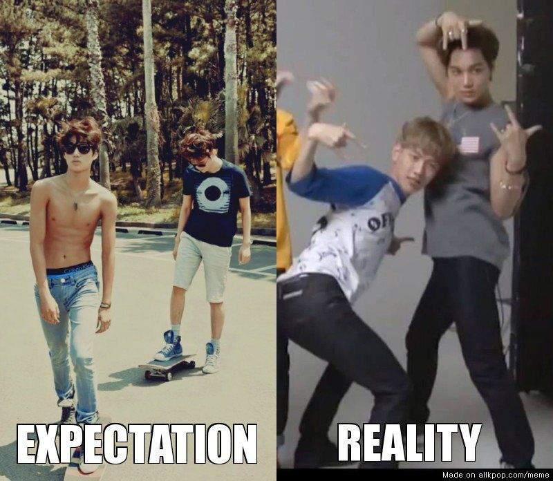 Imagini pentru kpop expectation vs reality