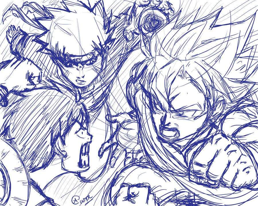 Goku, being universal+, is immeasurably superior to naruto, who is large planetary. Naruto And Luffy Vs Goku Anime Amino