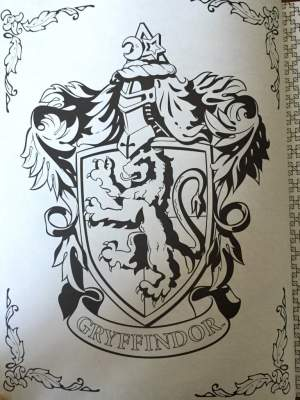 potter harry gryffindor crest coloring drawings ravenclaw crests smile hufflepuff simple slytherin