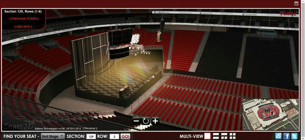 Prudential Center Section 7 Row 1