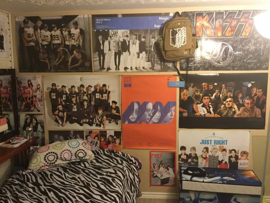 my kpop posters bedroom