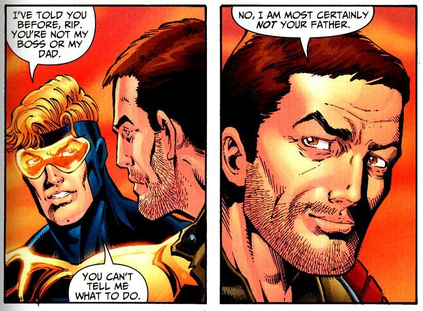 Image result for booster gold and rip hunter