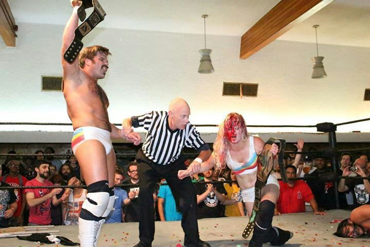 Image result for candice lerae vs the young bucks