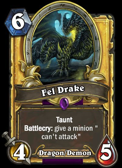 dragonevent fel drake hearthstone