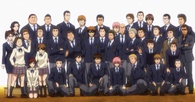 Ace of Diamond Review class picture