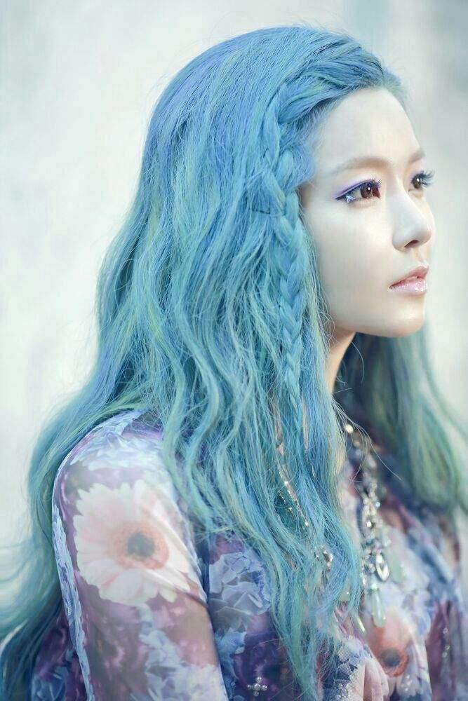 Idols With Blue Hair Female Edition K Pop Amino