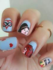 friends nail art amino