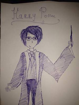 potter harry draw simple